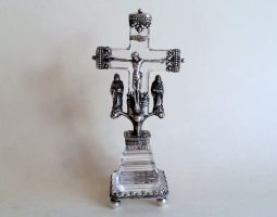 Continental silver and crystal crucifix