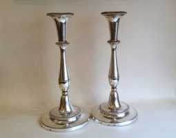 Pair of Old Sheffield Plate Boulton candlesticks