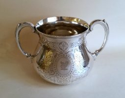 Victorian silver sugar bowl