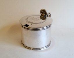 George IV silver mustard pot