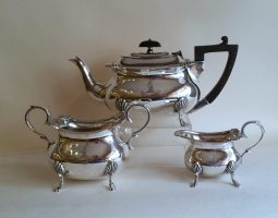 Edwardian silver teaset