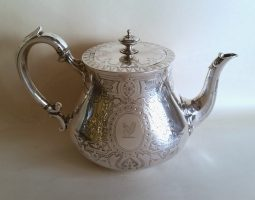 Victorian silver teapot