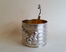 George II silver cream pail
