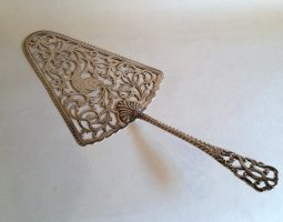 George III silver fish slice