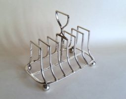 Victorian silver toastrack