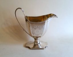George III silver cream jug