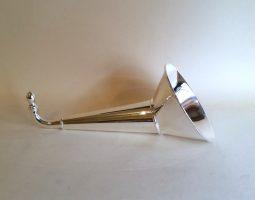 Silver ear trumpet