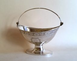 George III silver sugar basket