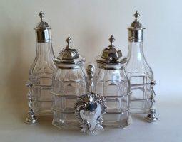 Victorian silver cruet