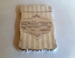 Canadian silver castle top card case