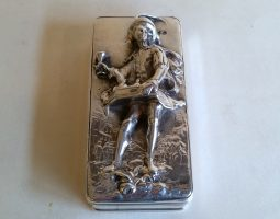 George IV silver pedlar snuff box