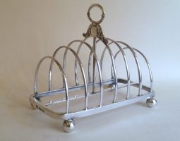 William IV Newcastle silver toast rack