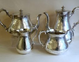 Victorian silver four piece teaset